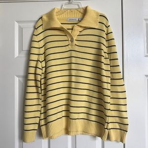 Yellow Pullover Striped Yellow Sweater